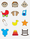Conjunto del icono del bebé Fotos de archivo libres de regalías
