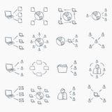 Conjunto del icono del bosquejo stock de ilustración