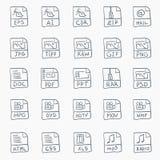 Conjunto del icono del bosquejo Foto de archivo libre de regalías