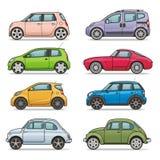 Conjunto del icono del coche stock de ilustración