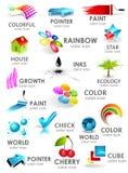 Conjunto del icono del color del diseño 3d. Elementos del diseño stock de ilustración