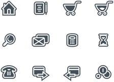 Conjunto del icono del comercio electrónico del vector Fotografía de archivo libre de regalías