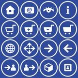 Conjunto del icono del comercio electrónico del vector ilustración del vector