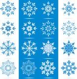 Conjunto del icono del copo de nieve Fotos de archivo libres de regalías
