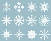 Conjunto del icono del copo de nieve Fotografía de archivo