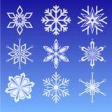 Conjunto del icono del copo de nieve Foto de archivo libre de regalías