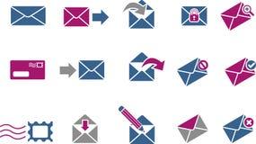 Conjunto del icono del correo libre illustration