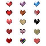 Conjunto del icono del día de tarjeta del día de San Valentín Imagenes de archivo