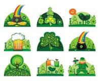 Conjunto del icono del día del St. Patrick Imagen de archivo