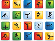 Conjunto del icono del deporte Foto de archivo libre de regalías