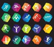 Conjunto del icono del deporte Imagen de archivo