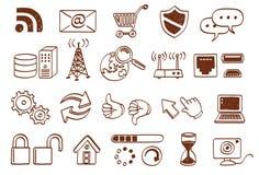 Conjunto del icono del Doodle Fotos de archivo