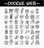 Conjunto del icono del doodle del Web Fotografía de archivo