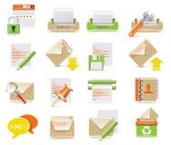 Conjunto del icono del email del vector Imagen de archivo libre de regalías