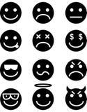 Conjunto del icono del Emoticon Fotos de archivo