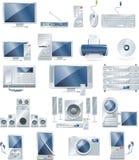 Conjunto del icono del equipo electrónico del vector Fotos de archivo libres de regalías