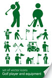 Conjunto del icono del golf Foto de archivo
