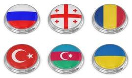 Conjunto del icono del indicador de la nación ilustración del vector