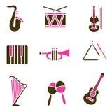 Conjunto del icono del instrumento Imágenes de archivo libres de regalías
