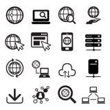 Conjunto del icono del Internet Imagen de archivo libre de regalías
