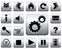 Conjunto del icono del metal del vector. Fotografía de archivo