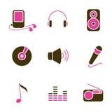 Conjunto del icono del objeto de la música libre illustration