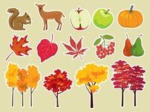 Conjunto del icono del otoño Foto de archivo