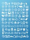 Sistema del icono del pixel Imágenes de archivo libres de regalías
