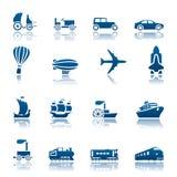 Conjunto del icono del progreso del transporte Ilustración del Vector