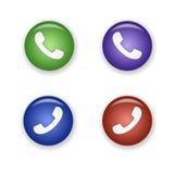 Conjunto del icono del receptor de teléfono Imagen de archivo libre de regalías