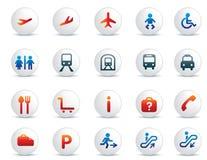 Conjunto del icono del recorrido Imagen de archivo libre de regalías