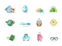 Conjunto del icono del recorrido Fotos de archivo libres de regalías