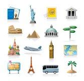 Conjunto del icono del recorrido Imagen de archivo