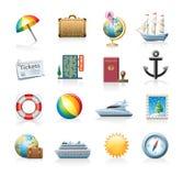 Conjunto del icono del recorrido Imagenes de archivo