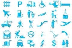 Conjunto del icono del símbolo del transporte Fotografía de archivo