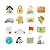 Conjunto del icono del seguro Imagen de archivo libre de regalías