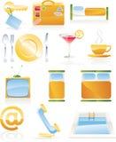 Conjunto del icono del servicio de hotel del vector Fotos de archivo libres de regalías