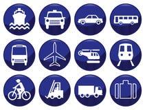 Conjunto del icono del transporte Fotografía de archivo