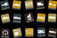 Conjunto del icono del transporte Fotografía de archivo libre de regalías