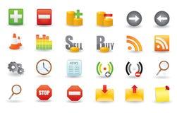 Conjunto del icono del vector Fotografía de archivo libre de regalías