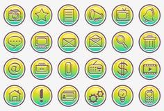 Conjunto del icono del vector Imagenes de archivo
