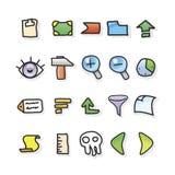 Conjunto del icono del vector Fotografía de archivo