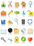 Conjunto del icono del vector Imagen de archivo