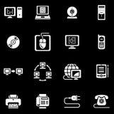 conjunto del icono del vector de las E-comunicaciones Fotografía de archivo