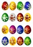 Conjunto del icono del vector de los huevos de Pascua Imagenes de archivo