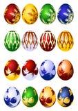 Conjunto del icono del vector de los huevos de Pascua Foto de archivo
