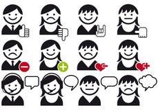 Conjunto del icono del vector del avatar Fotografía de archivo
