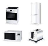Conjunto del icono del vector del equipo de la cocina Imagen de archivo