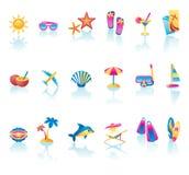 Conjunto del icono del verano Fotos de archivo libres de regalías