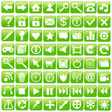 Conjunto del icono del Web. Imagenes de archivo